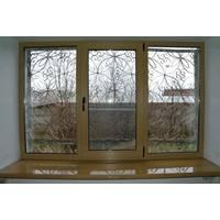 Трехстворчатое пластиковое окно KBE Master с ламинацией
