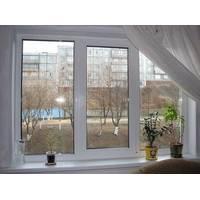 Трехстворчатое пластиковое окно KBE Etalon