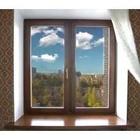 Двустворчатое окно KBE Gut с ламинацией двусторонней