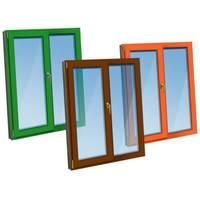 Двустворчатое окно KBE Etalon с ламинацией
