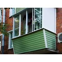 Наружная обшивка балкона профнастилом БикСервис.