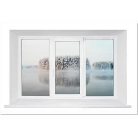 Трехстворчатое пластиковое окно KBE Gut