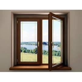 Двустворчатое окно REHAU BLITZ New с ламинацией
