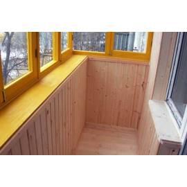 Обшивка хрущевского балкона вагонкой