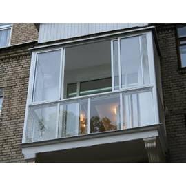 Раздвижные окна для П-образного балкона