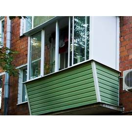 Обшивка  Балкона с Наружи Профнастилом