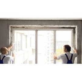 Монтаж трехстворчатых окно