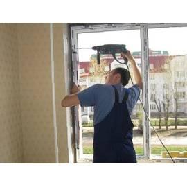Монтаж двухстворчатого окна