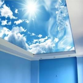 """Натяжной потолок матовый, фотопечать """"Небо"""""""