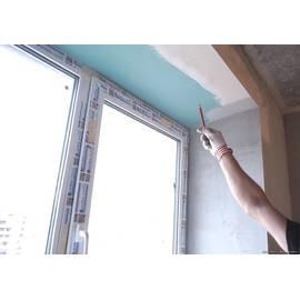 Монтаж  откосов  на трехстворчатое окно.